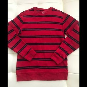 Faded Glory boy's striped sweater red size large